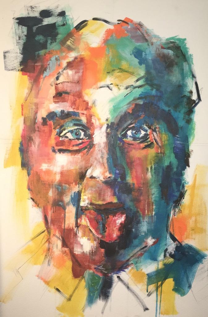 Ustinov    Acryl auf Leinwand    70 x 100
